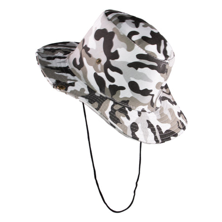 Summer Hat Sol Bucket Hat Camo Grey
