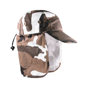 Summer Hat Sol Fishing Hat Camo Brown