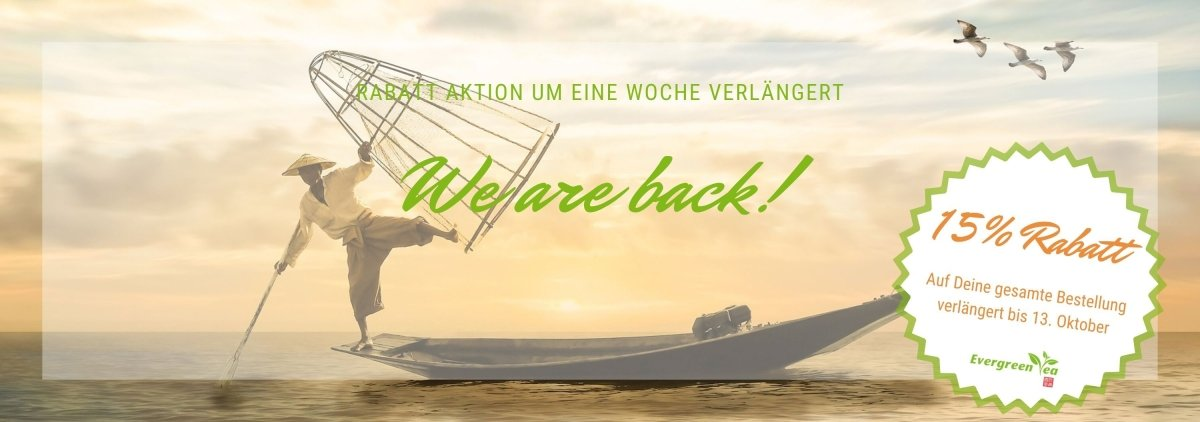 We are back! 15% Rabattaktion verlängert bis 13.10.2019