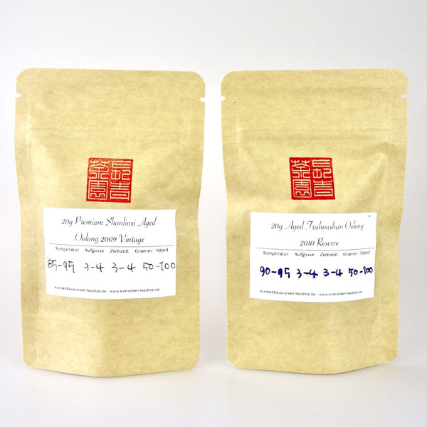 Aged Oolong Tee Sampler - Evergreen Teashop