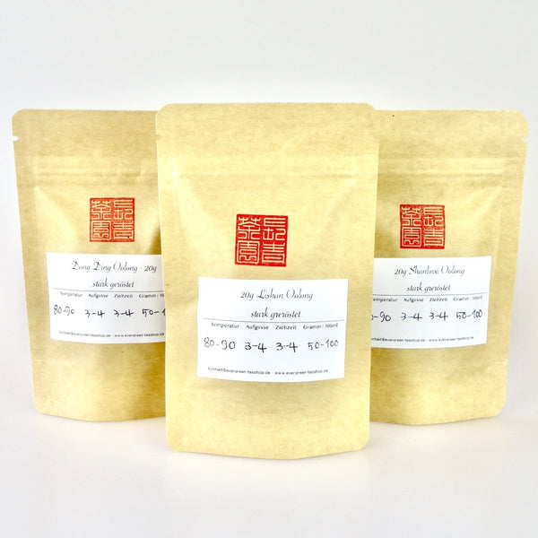 Stark gerösteter Oolong Tee Sampler - Evergreen Teashop
