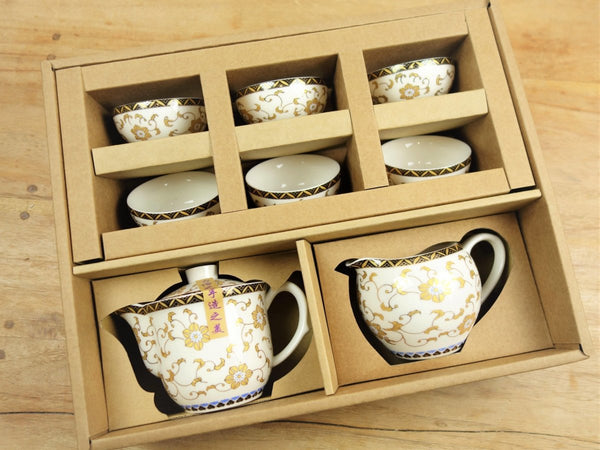 Teetassen Set white Pearl aus Taiwan - Porzellan - Evergreen Teashop