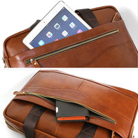 Blue Mount Mens Genuine Leather Briefcase Laptop Business Messenger Bag Attache 9029 - chanchanbag