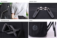 Aoking Mens Laptop Backpack College Bag USB Charging Headphone Port SN67660_2