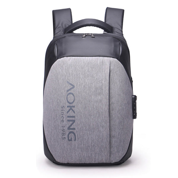 Aoking Mens Business Bag with USB Port Laptop Backapck College School Bag 77266 - chanchanbag