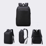 Aoking Mens College Bag with USB Port 16'' Laptop Backpack School Bag 78077 - chanchanbag