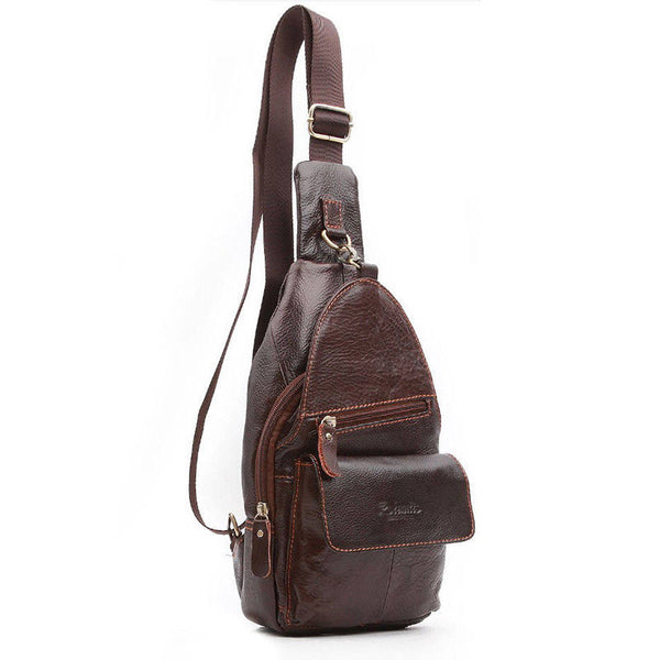 Blue Mount Mens Genuine Leather Sling Bag Crossbody Bag Shoulder Backpack 38035 - chanchanbag