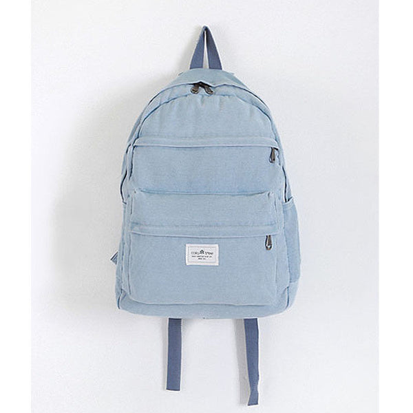 Colatree Womens Denim Backpack Mens School Bag College Bag Daypack 216 - chanchanbag
