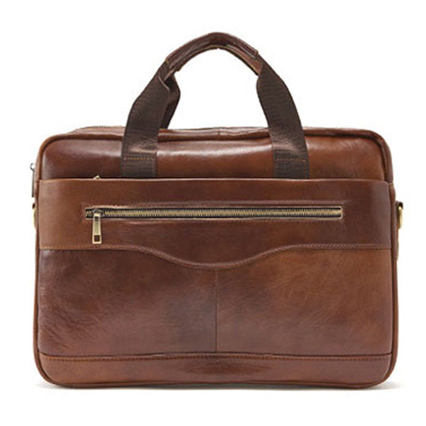 SSAMZIE Mens Genuine Leather Briefcase Laptop Business Shoulder Bag Attache 9029 - chanchanbag