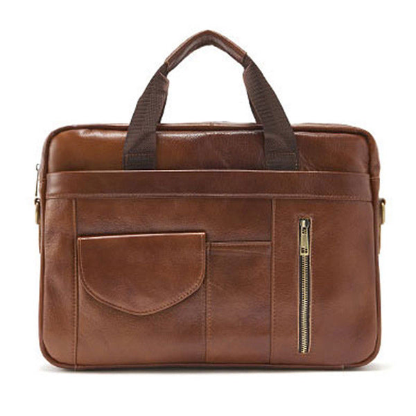 SSAMZIE Mens Genuine Leather Briefcase Laptop Business Shoulder Bag Attache 9039 - chanchanbag