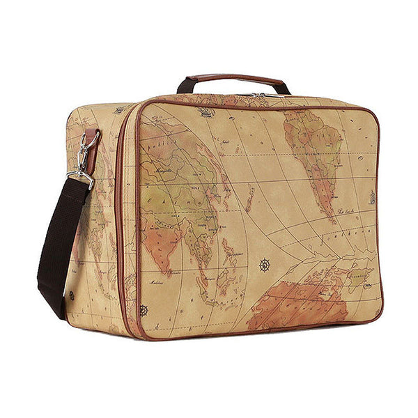 Colatree World Map Bag Womens Duffle Bag Mens Travel Shoulder Bag Tote Bag Cube - chanchanbag