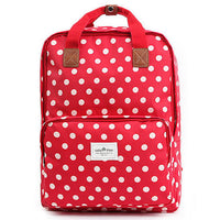Colatree Womens Polka Dot Backpack College School Bag Daypack 408 - chanchanbag