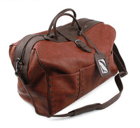 Dickfist Mens Faux Leather Duffle Bag Womens Travel Tote Bag Gym Bag 301 - chanchanbag