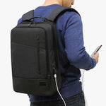 Toppu Mens College Bag with USB Port 15.6'' Laptop Backpack Travel Bag 797