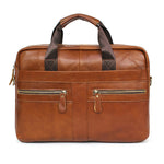 Blue Mount Mens Genuine Leather Briefcase Laptop Business Messenger Bag Attache 9023