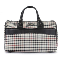 Genova Mens Check Duffle Bag Womens Travel Shoulder Bag Tote Gym Bag 4207 - chanchanbag