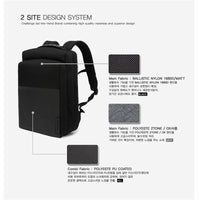TOPPU Mens Business Backpack College School Bag Laptop Rucksack Black Bag 707 - chanchanbag