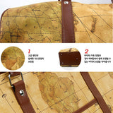 Colatree World Map Bag Mens Duffle Bag Womens Travel Shoulder Bag Crownj A - chanchanbag