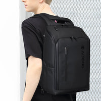 Aoking Mens Business Backpack with USB 15.6'' Laptop Bag Travel Anti Theft Bag 77886 - chanchanbag