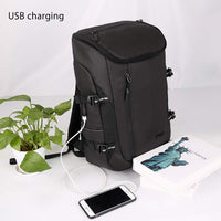 Aoking Mens School Backpack with USB Port 15.6'' Laptop Rucksack College Bag 77711 - chanchanbag