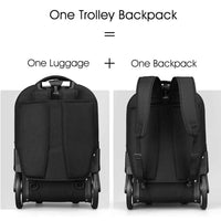 Aoking Rolling Travel Backpack Wheeled Laptop Rucksack Trolley Luggage (20 Inches) - chanchanbag