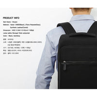 TOPPU Mens Business Backpack Square College School Bag Laptop Rucksack 811 - chanchanbag