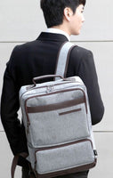 SLICK Mens Herringbone Backpack College School Bag Laptop Backpack Rucksack 114 - chanchanbag