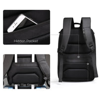 Aoking Mens 15.6'' Laptop Backpack with USB Port College School Business Bag 77880 - chanchanbag