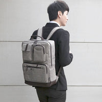 SLICK Mens Multi Pocket Backpack College School Bag Laptop Backpack Rucksack 115 - chanchanbag