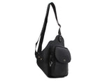 Dickfist Mens Faux Leather Sling Bag Crossbody Bag Shoulder Backpack 718 - chanchanbag