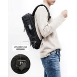 Toppu Mens College Bag with USB Port 15.6'' Laptop Backpack Tote School Bag 3 Way Bag 986B - chanchanbag
