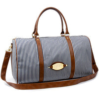 Colatree Mens Stripe Duffle Bag Womens Travel Shoulder Bag Gym Bag Stripe - chanchanbag