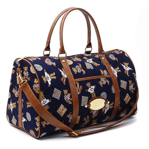Colatree Womens Bear Duffle Bag Mens Travel Shoulder Bag Gym Bag Stripe Bear - chanchanbag