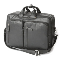 SLICK 3 Way Bag Mens Faux Leather Business Laptop Backpack College Bag 734 - chanchanbag