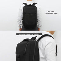 TOPPU Mens Business Backpack Square College School Bag Laptop Rucksack 839 - chanchanbag