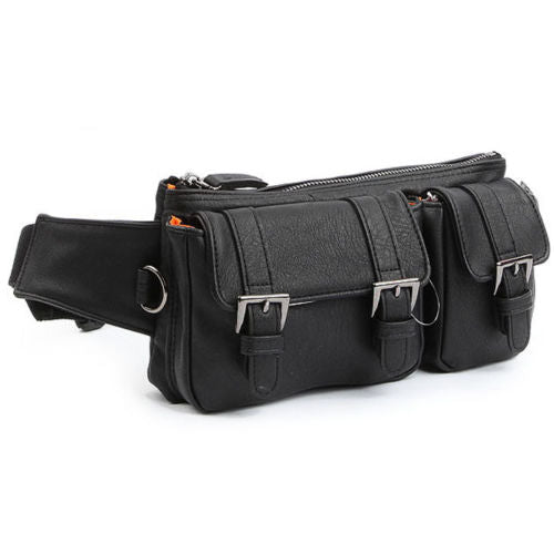 Dickfist Mens Faux Leather Fanny Pack Womens Waist Pack Bag 9078 - chanchanbag