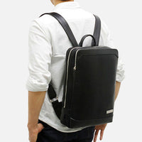 TOPPU Mens Business Backpack Laptop College School Bag Black Brown Bag 473 - chanchanbag