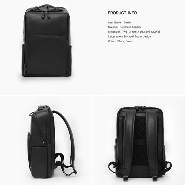 Toppu Mens Business Backpack 15.6'' Laptop Travel Bag College School Backpack 827 - chanchanbag