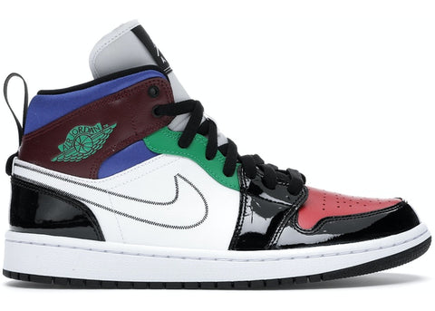 Air Jordan 1 Mid SE Black White Multi-Color (W)