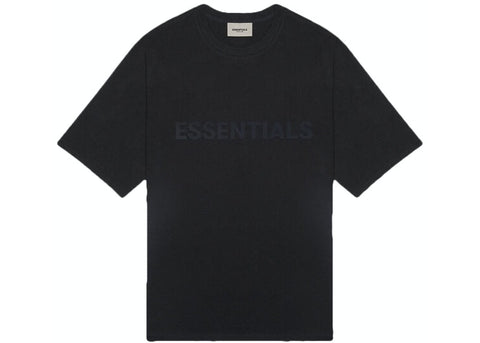 FEAR OF GOD ESSENTIALS 3D Silicon Applique Boxy T-Shirt - Black