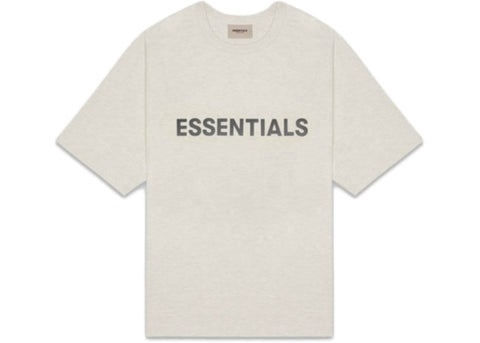 FEAR OF GOD ESSENTIALS 3D Silicon Applique Boxy T-Shirt - Oatmeal Heather