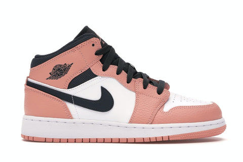 "Air Jordan 1 Mid ""Pink Quartz"" (GS)"