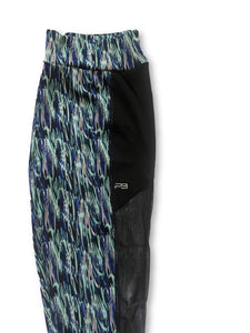 Women's Print Yoga Leggings W/ Mesh Side