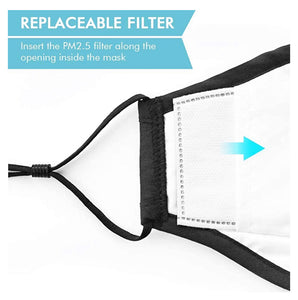 ***NEW ARRIVALS***   Unisex Face Cotton Anti Dust Carbon Filter Reusable Washable With Breathing Value