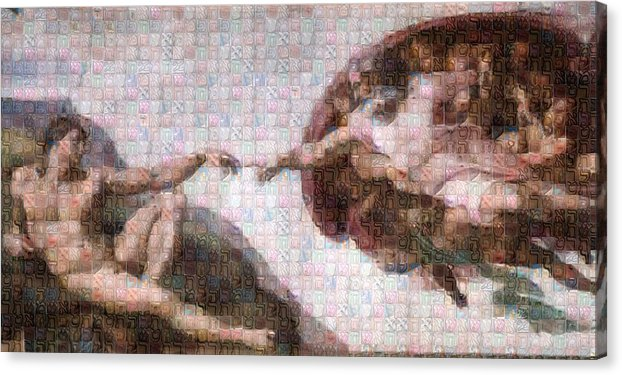 Tribute to Michelangelo - Canvas Print - ALEFBET - THE HEBREW LETTERS ART GALLERY