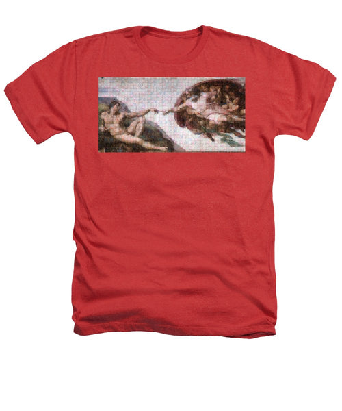 Tribute to Michelangelo - Heathers T-Shirt - ALEFBET - THE HEBREW LETTERS ART GALLERY