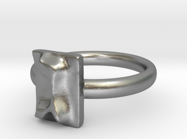 GIMEL silver engagement ring - ALEFBET - THE HEBREW LETTERS ART GALLERY