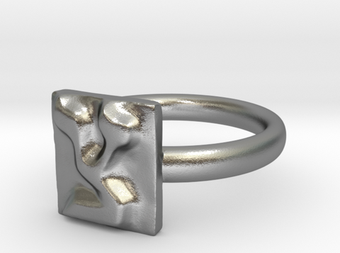 TZADI silver engagement ring - ALEFBET - THE HEBREW LETTERS ART GALLERY