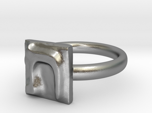 TAV silver engagement ring - ALEFBET - THE HEBREW LETTERS ART GALLERY