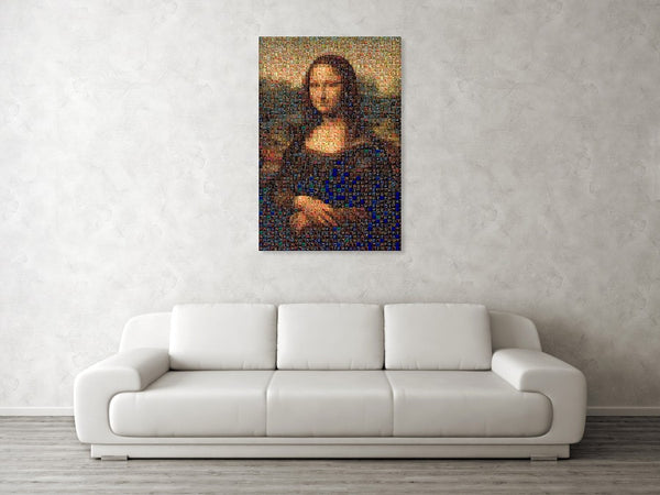 Tribute to Leonardo - Mona Lisa - Canvas Print - ALEFBET - THE HEBREW LETTERS ART GALLERY